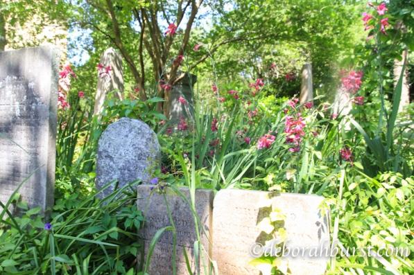 Unitarian cemetery bright flowers horiz wm.jpg